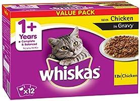 Whiskas Tender Bites Chicken in Gravy, Pouch, Multipack 85g x Pack of 12