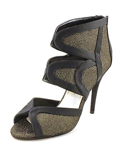 Caparros Irene Womens Size 10 M Black Open Toe Pumps Heels Shoes