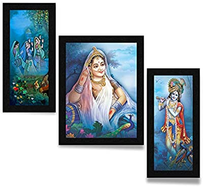SAF UV Textured Paper Religious Painting, Multicolour, Modern, 13.5 Inch X 22.5 Inch