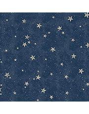 Fine Décor M1490 Starlight Stars Navy Wallpaper, Blauw