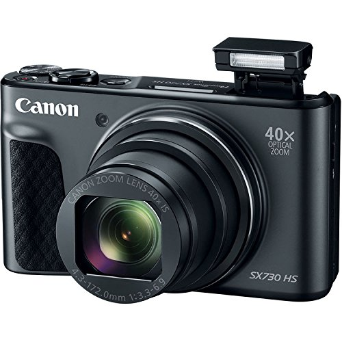 Canon Powershot SX730 Point & Shoot Digital Camera Bundle w/Tripod Hand Grip, 64GB SD Memory, Case and More