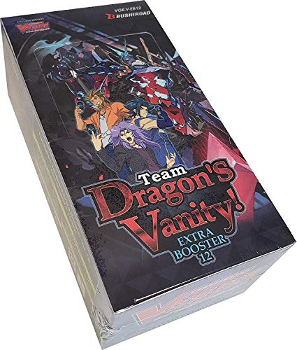 Cardfight Vanguard Men's V-Team Dragons Vanity Booster Display Box of 12 Packets, Multi, 14.5cm x 7.5cm x 5.5cm