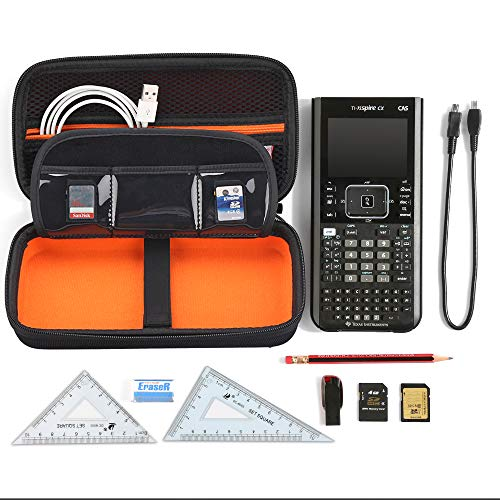 BOVKE Graphing Calculator Carrying Case for Texas Instruments TI-Nspire CX CAS/CX II CAS Color Graphing Calculator and More - Includes Mesh Pocket for USB Cables and Other Accessories, Black Photo #6