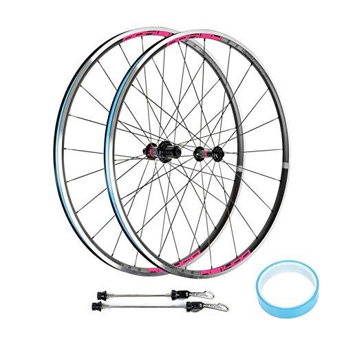 TYXTYX Ejes de liberación rápida Accesorio para Bicicleta Rueda de Bicicleta de Carretera 700c, Llanta de Freno en V 8 9 10 11 Velocidad Soporte de Casete 700 X 23-35C Neumáticos Bicicleta de Carre