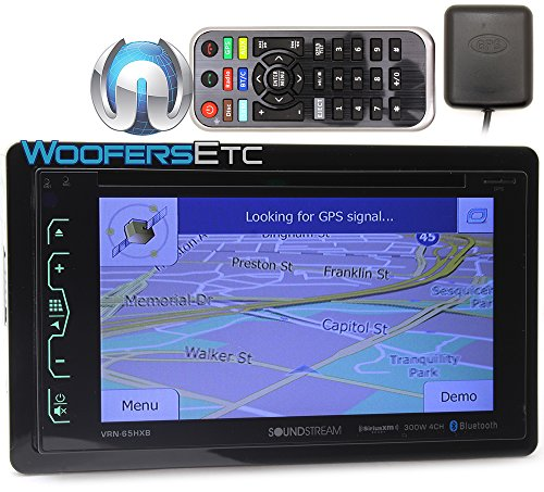 """Soundstream VRN-65HXB In-Dash 2-DIN 6.2"""" Touchscreen LCD DVD Receiver with Bluetooth, GPS Navigation and SiriusXM Ready"""