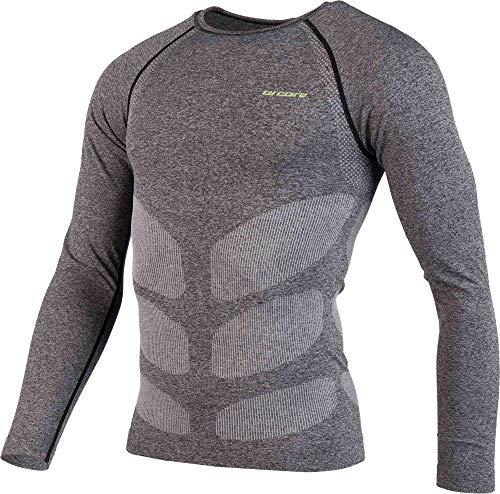 ARCORE Herren Funktionsshirt Ski Unterwäsche Langarm Thermounterwäsche Flachnähte, ideal für Skisport, Top Design (schwarz, XL)