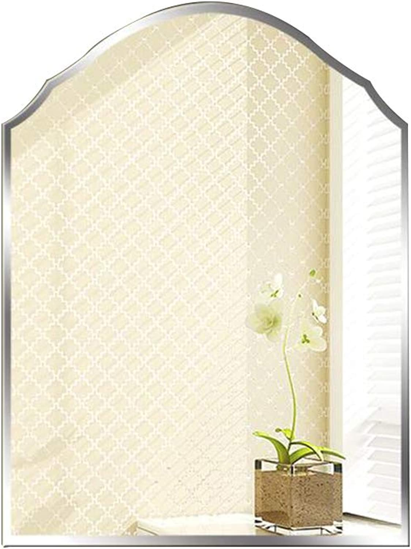 Mirror Frameless Shaped Bathroom Mirror Wall Hanging Bathroom Toilet Toilet Makeup Comb Hanging Mirror Wall Mirror