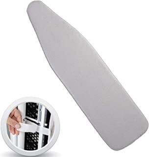 ZC-MALL Ironing Board Cover 15 x 54,No Fasteners Needed,Scorch Resistance Ironing Board Cover Silicone Coating Covers Have Elastic Edge(15x54,Silver)
