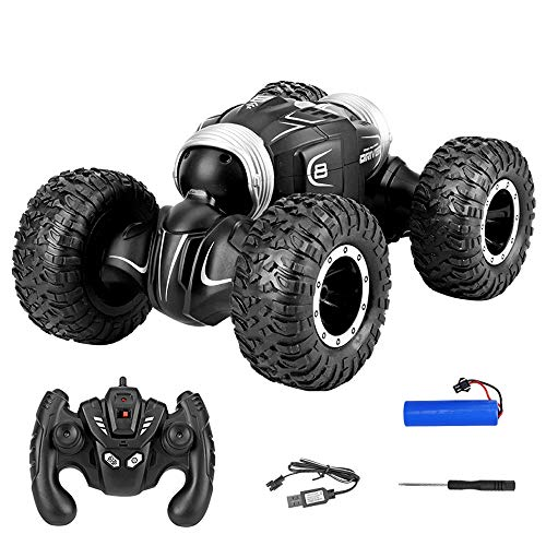 Lotee RC Toy Car 2.4Ghz Tumbling Stunt Off-Road Car Truck Remote Control Toys 4WD Tunt Rc Car High Speed Flashing for Children Electric Cool RC Cars Boy Birthday Best Gifts (Size : 1 Battery Pack)