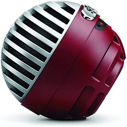 SHUREコンデンサーマイク実況/配信/在宅勤務/ウェブ会議MOTIVシリーズMV5iOS対応レッドMV5A-R-LTG-A【国内正規品】