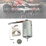 Metall 550 Kohle Bürsten Motor + Motorhalterung Für WLtoys 144001 1/14 4WD RC Auto (Sliver) -