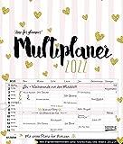 Multiplaner - Time for glamour 2022: Typo-Art Familienplaner, 7 breite Spalten. Schöner Familienkalender mit Ferienterminen, extra Spalte, Vorschau für 2023 und Herz-Datumsschieber. Format: 40x47 cm