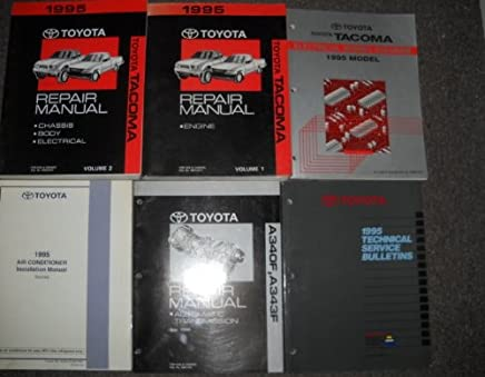 1995 toyota tacoma service shop repair manual set oem (2 volume set,electrical  wiring