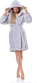 Extremadamente Ligero L/&L 9136 Albornoz Suave de Manga Larga para Mujer Vestido de Bata con Capucha para Damas.