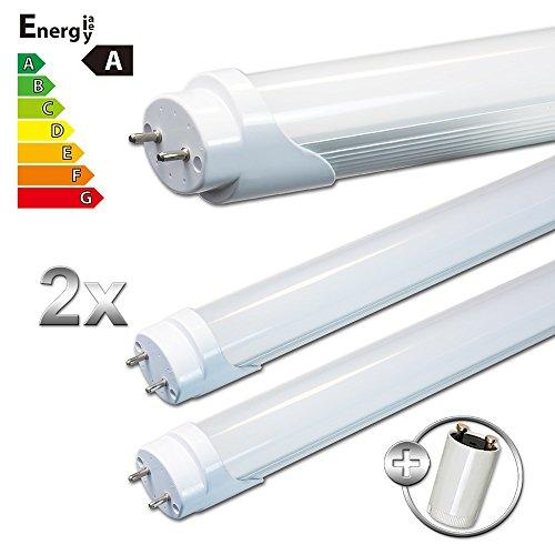 LEDVero 2x SMD LED Röhre/Tube Leuchtstoffröhre T8 G13 milchige Abdeckung - 90 cm, 14W, warmweiß 3000K, 1400lm- montagefertig LDLM361