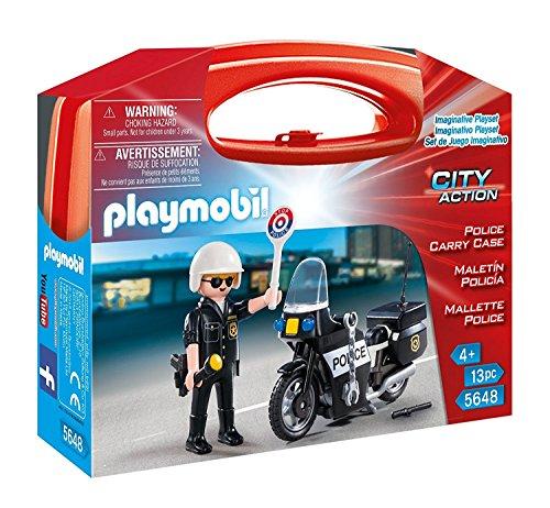 PLAYMOBIL Policía- Caso de Transporte de la Policía Figuras de Juguete, Multicolor (5648)
