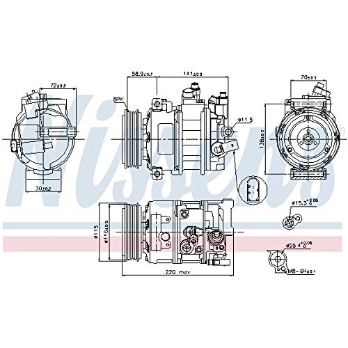 Nissens 89211 Clima compressori