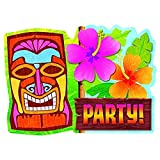Amscan Tiki Party Invitation Cards, 4 7/8' x 6.25', 20 Ct.