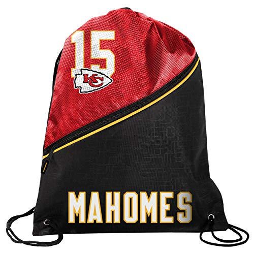 FOCO - Kansas City Chiefs High End Diagonal Drawstring Backpack Gym Bag - Patrick Mahomes #15