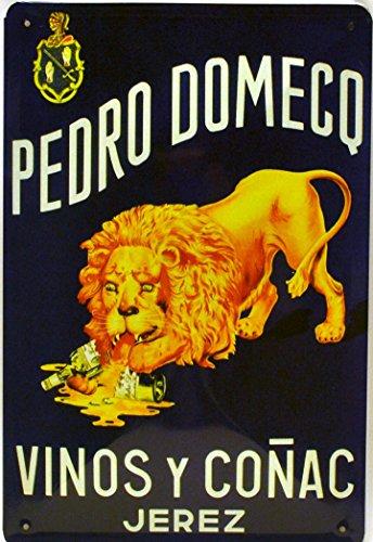 ART ESCUDELLERS Cartel Póster publicitario de Chapa metálica con diseño Retro Vintage de Catalunya/España. Tin Sign. 30 cm x 20 cm (VINOS Y COÑAC Pedro DOMECQ)