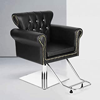Vintage Styling Barber Chair Antique Hydraulic Hair Spa Salon Chairs Beauty Equipment (Black)