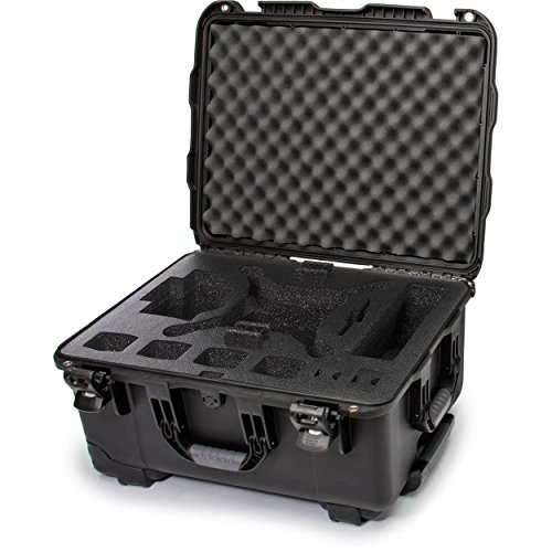 Nanuk DJI Drone Waterproof Hard Case with Wheels and Custom Foam Insert for DJI Phantom 4/ Phantom 4 Pro (Pro+) / Advanced (Advanced+) & Phantom 3 - Black