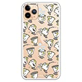 Funda para iPhone 11 Pro MAX Oficial de La Bella y la Bestia Chip Potts Siluetas para Proteger tu móvil. Carcasa para Apple de Silicona Flexible con Licencia Oficial de Disney.