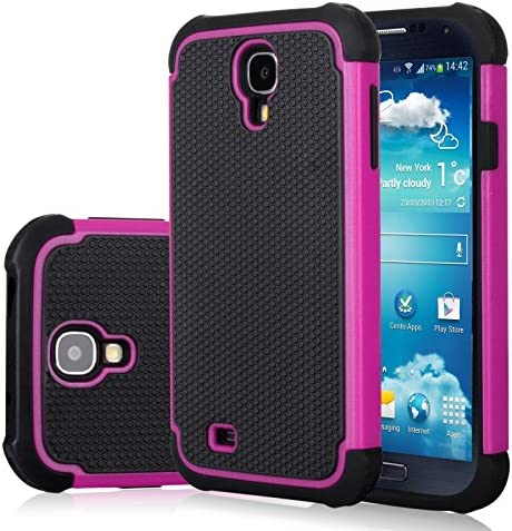 Galaxy S4 Case Samsung S4 Cover Jeylly Shock Absorbing Hard Plastic Outer Rubber Silicone Inner product image