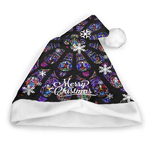 Glasfenster Rosette Kirchenfenster Notre Dame Ed Verrückte Weihnachtsmützen Fun Party Hüte Erwachsene Party Neujahr Weihnachten Tag Dekoration Weihnachten Kinder Hut Weihnachtsmützen Für Erwachsene