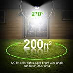Solar Lights Outdoor 120 LED with Lights Reflector,Solar Motion Sensor Security Lights, IP65 Waterproof Solar Powered Wireless Wall Lights for Garden Patio Yard Deck Garage Fence Pool(2 Pack) 270 Degree 200ft Reach