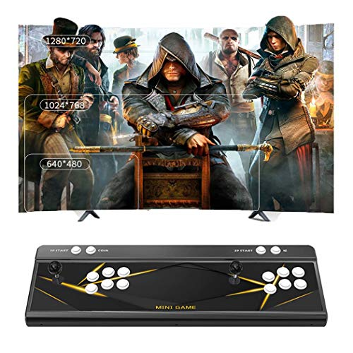 Pandora'S Box 3D Home Arcade Game Console Rocker Arcade King Wife Available 4018 Hd Games 2 Player Game Controls Support Hdmi Vga Usb Aux Audio Output