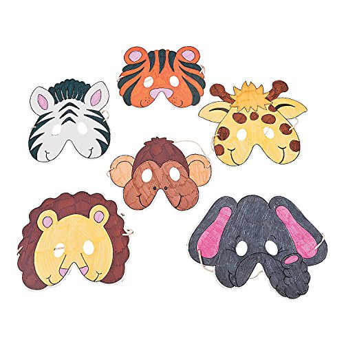 Color Your Own Zoo Animal Masks - Crafts for Kids and Fun Home Activities