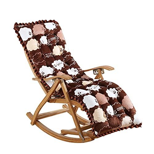 CellDeal Sun Lounger Cushions 145 * 48 * 4cm Thick Garden Recliner Relaxer Chair Cushion Replacement Seat Cushion Pads for Outdoor Garden Patio