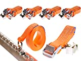 4 x 250 kg 5 m Cinghie di fissaggio per Binario fermacarico airline Cinghie con fibbia e occhiello per rotaia fresata