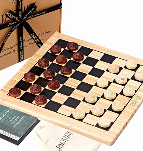 """Damespiel - Entwürfe Set spielsteine - 12 \""""Holzbretter Brettspiel mit Stücken spielsteine - Jaques von London"""