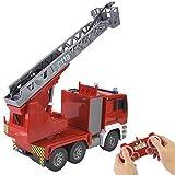 Haowecib Camión de Bomberos, camión de Rescate inalámbrico de 2,4 GHz, camión de Bomberos RC con Luces y Sonidos, multifunción para niños y niñas
