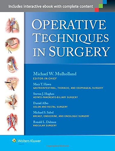 Compare Textbook Prices for Operative Techniques in Surgery 2 Volume Set First Edition ISBN 9781451186314 by Mulholland MD  PhD, Michael W.,Albo, Daniel,Dalman, Ronald,Hawn, Mary,Hughes, Steven,Sabel, Michael