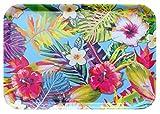 Lashuma Bandeja para vasos de melamina, bandeja decorativa multicolor, con impresión: Tro...