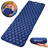 VENTURE 4TH Ultralight Air Sleeping Pad - Lightweight, Compact, Durable – Air Cell Technology for Added Stability and Comfort While Backpacking, Camping, and Traveling (Dark Blue)
