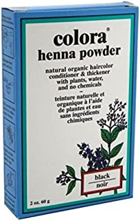 Sponsored Ad - Colora Henna Powder Hair Color Black 2 Ounce (59ml) (3 Pack)