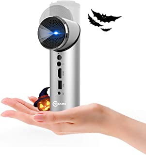 KIXIN Smart Mini Wi-Fi Projector with Rotated 90 Degrees Lens, DLP Pico Pocket Projector ,Android System,Support 1080P,100 ANSI Lumens,Compatible with HDMI,USB,Bluetooth,Wireless Screen Share (Silver)