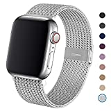 Dratar Metal Strap Compatible with Apple Watch Strap 38mm 40mm, Stainless Steel Mesh Loop Replacement Wristband Compatible with iWatch Series 5 4 3 2 1, Silver