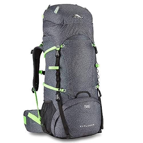 High Sierra Explorer Top Load Internal Frame Hiking Pack, Texture/Black, 55L / 30-Inch