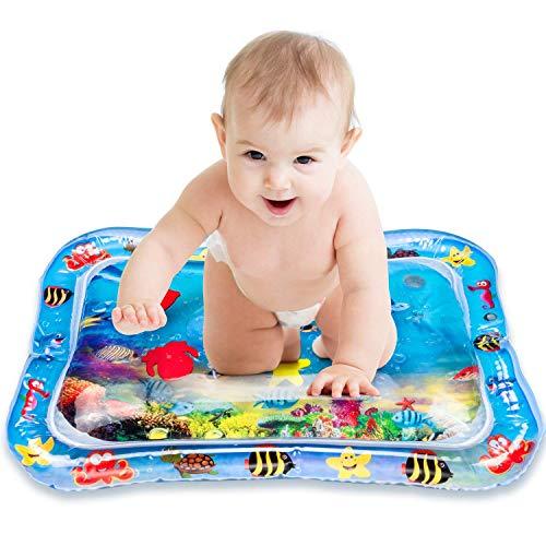 VIBIRIT Spielmatte Baby, Aufblasbare Wassermatte Spielen Aktivitätszentrum Touch Mat für Baby Kleinkinder Blaues Meer Wasser Matte Stimulation Wachstum Baby Spielzeug 3 6 9 Monate(66 x 50cm)