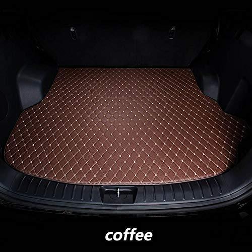 Cargo Floor Tray Teppich Schlamm Kofferraum Kofferraummatte Liner PU Leder Für Ford Escape Kuga 2013-2018,Coffee