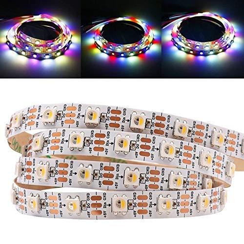 Zay Luay Luces 1M 5M WS2812B 5 Patas RGBW RGBWW 4 EN 1 LED Luz de Tira no Impermeable DC5V (Color : RGB+Warm White, Size : 1M)