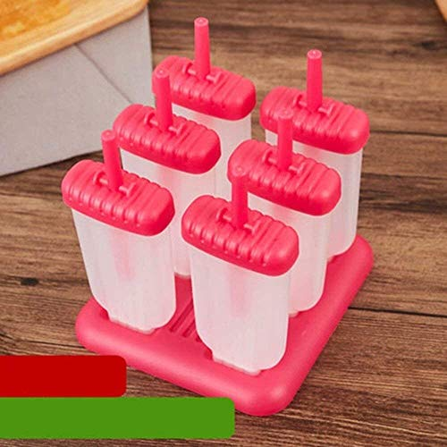 Keuken ijsdienblad zomer Ice Lolly Vormen Set, Ice Lolly Maker Herbruikbare DIY Frozen Ice Cream Pop Vormen For Kids IJs productie-accessoires (Color : A)