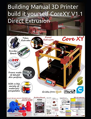 Building Manual 3D Printer build it yourself CoreXY V1.1 Direct Extrusion