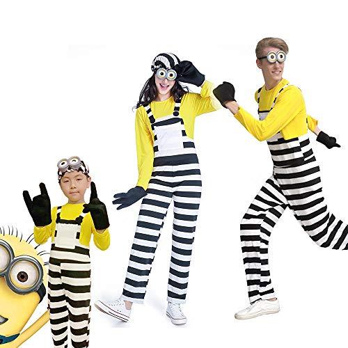 Disfraz de Halloween para niños adultos Minions Disfraz Hombres mujeres Cosplay Niños Minions Disfraz de niño Mono Familia Cosplay Carnaval