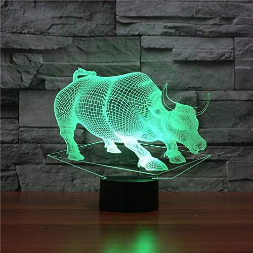 sanzangtang LED-Nachtlicht 3D-Vision-Sieben Farben-Fernbedienung-Farbsteuerung ändernJungen Nachtlichter für Schlafzimmer